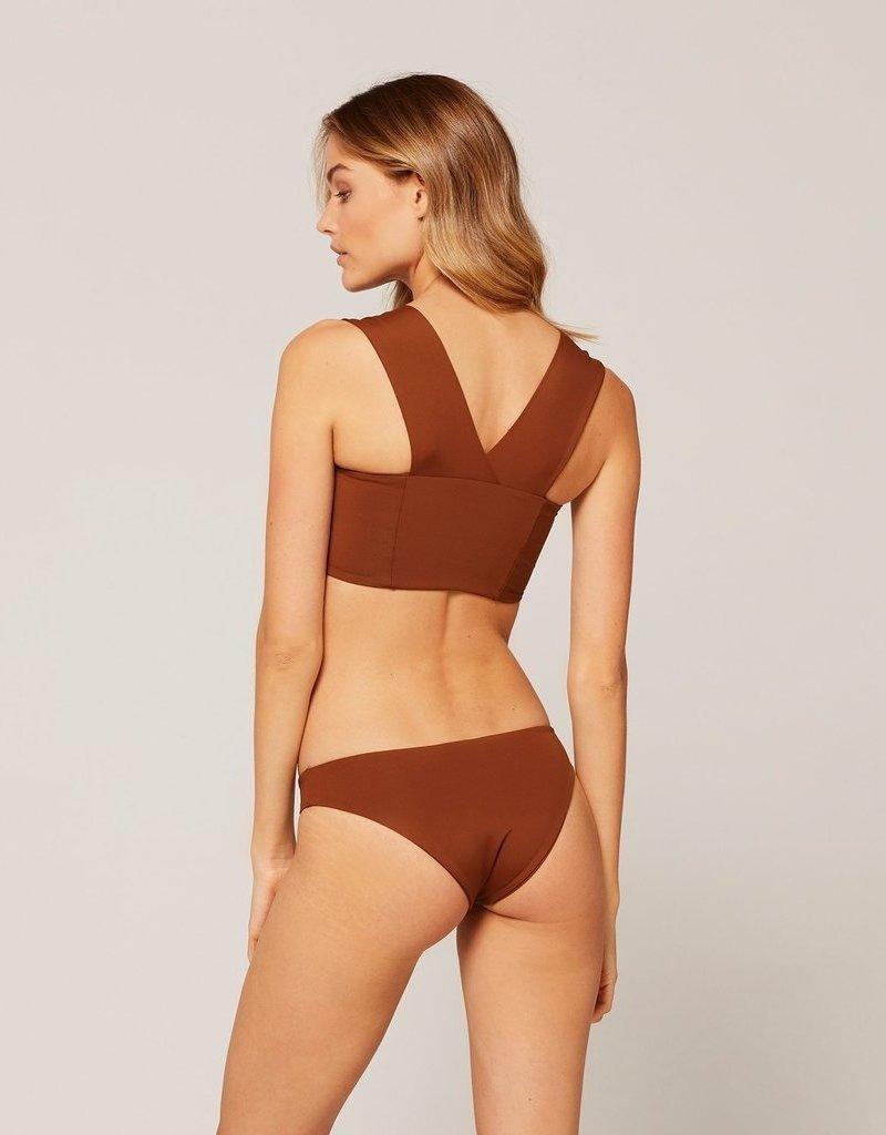 L*SPACE Parker Bikini Top - Tobacco