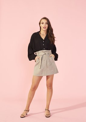 Minkpink Dropped Puff Sleeve Shirt