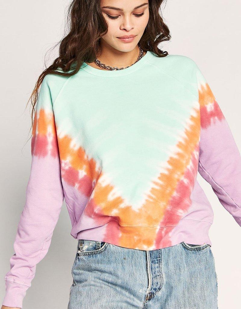 Daydreamer Tie Dye Varsity Crew Sweatshirt