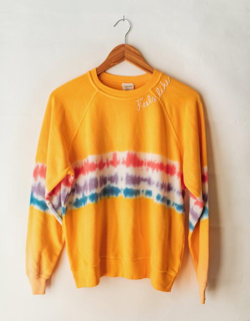 I Stole My Boyfriend's Shirt Feels Like Home Tie Dye Sweatshirt