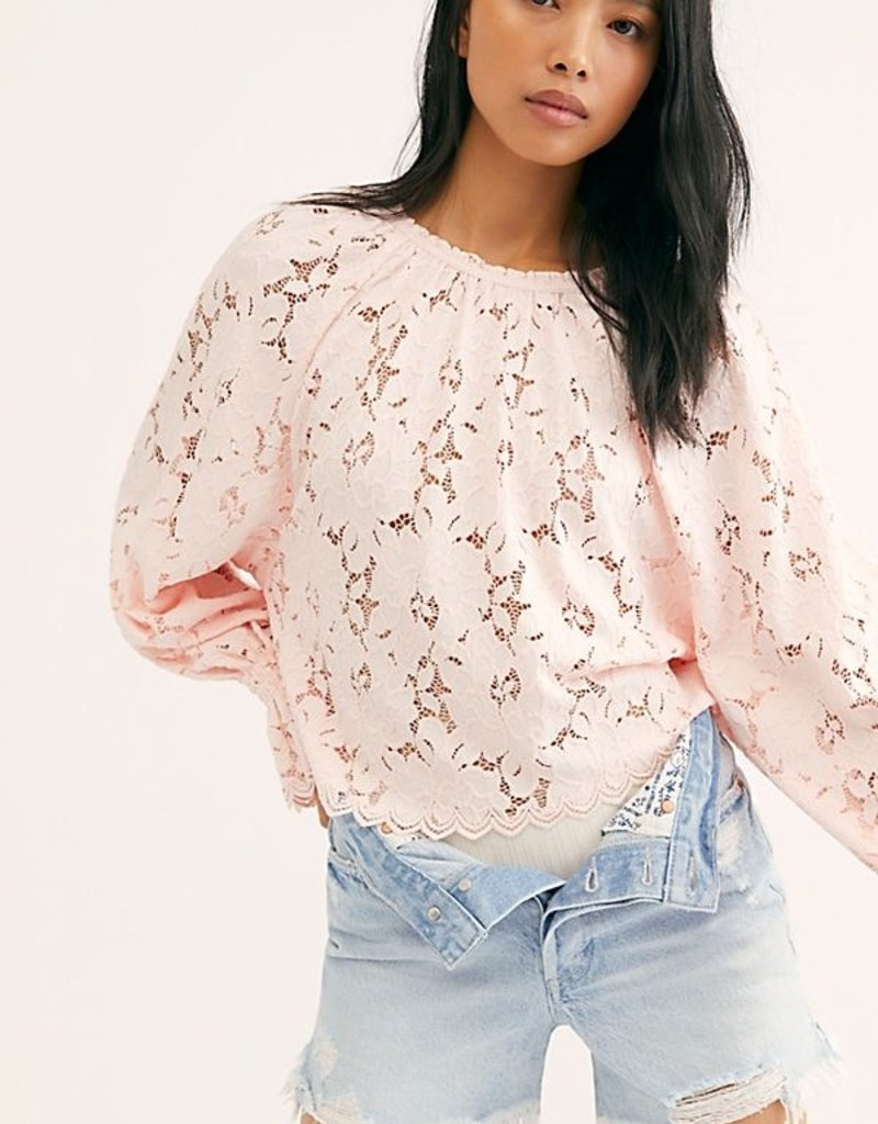 Free People Olivia Lace Tee