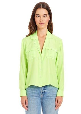 Amanda Uprichard Colbie Silk Top