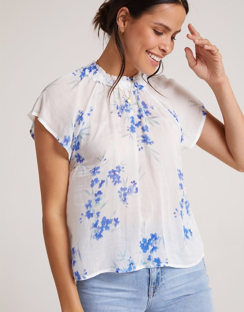 Bella Dahl Ruffle Neck Raglan Top