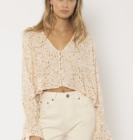 Amuse Society Savanna Woven Top
