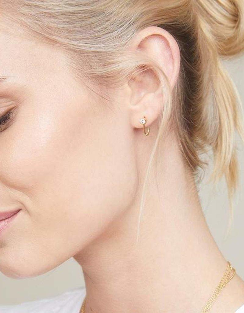 Gorjana Madison Shimmer Solitaire Huggies