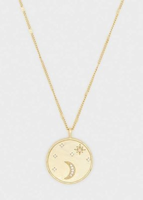 Gorjana Luna Coin Necklace