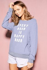 Wildfox Always Happy Baggy Beach Jumper