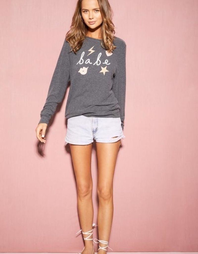 Wildfox Symbol Babe Baggy Beach Jumper