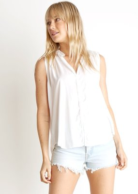 Bella Dahl Sleeveless Shirred Blouse