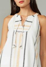 Greylin Brandy Yarn Dyed Stripe Halter Top
