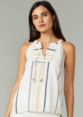 Greylin Brandy Yarn Dyed Stripe Halter Top