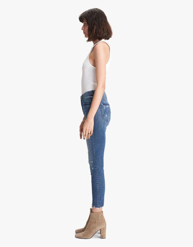 Mother The High Waisted Looker Ankle Fray - Get Your Groove Back