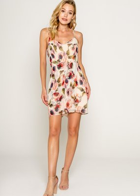 Lavender Brown Franky Spaghetti Strap Mini Dress