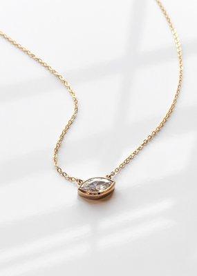 Thatch Iris Necklace