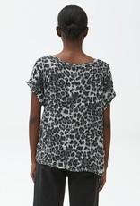 Michael Stars Draya Leopard Top
