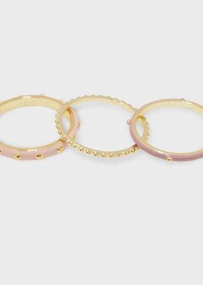 Gorjana Amalfi Ring Set - Blush
