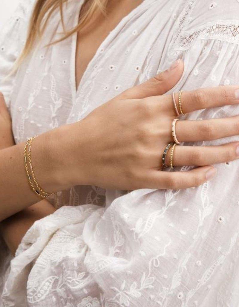 Gorjana Amalfi Ring Set - Blush