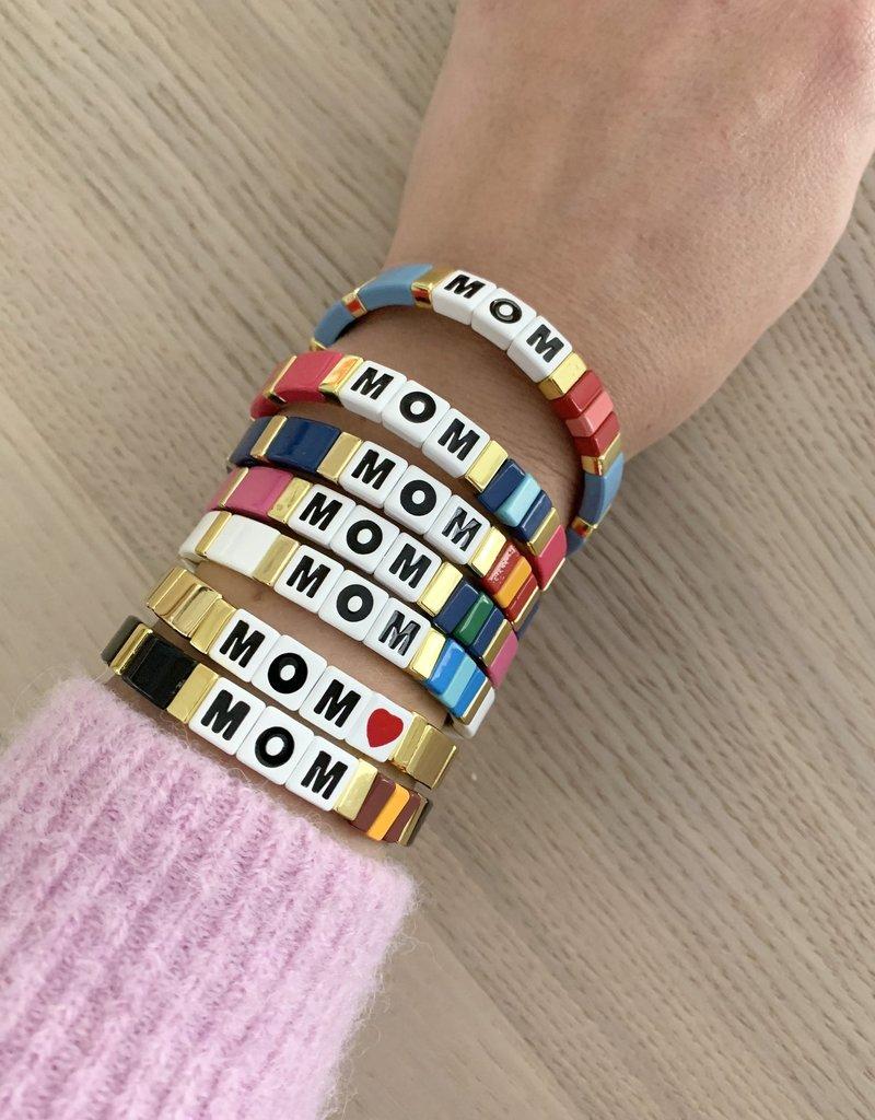 La Lumiere NY Mom Heart Bracelet