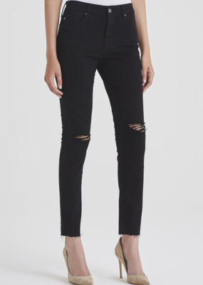AG Jeans Farrah Skinny Ankle - Midnight Black