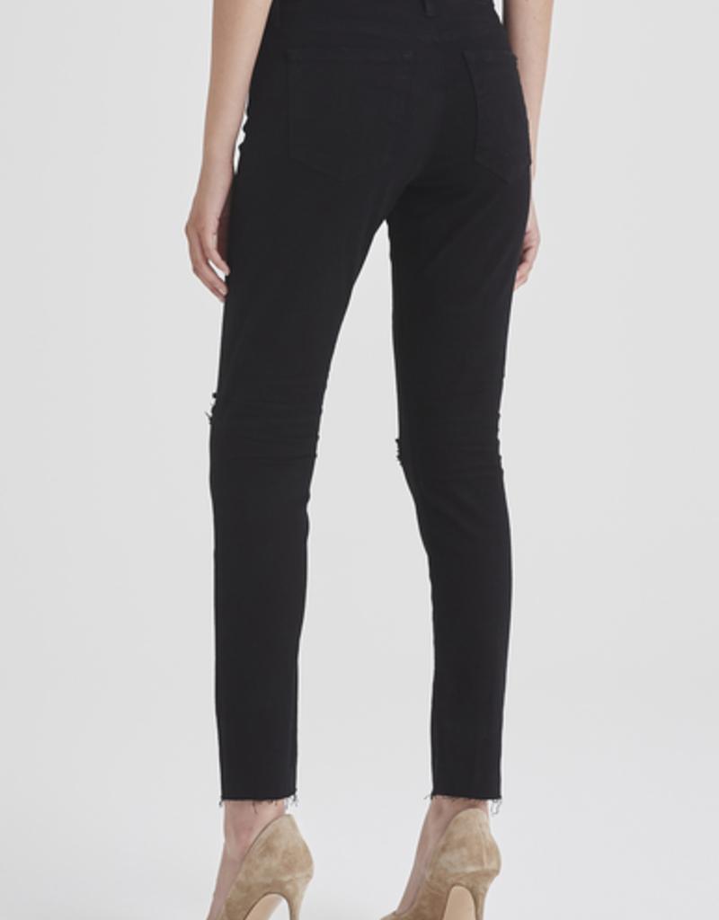 AG Jeans Farrah Skinny Ankle - Midnight Black