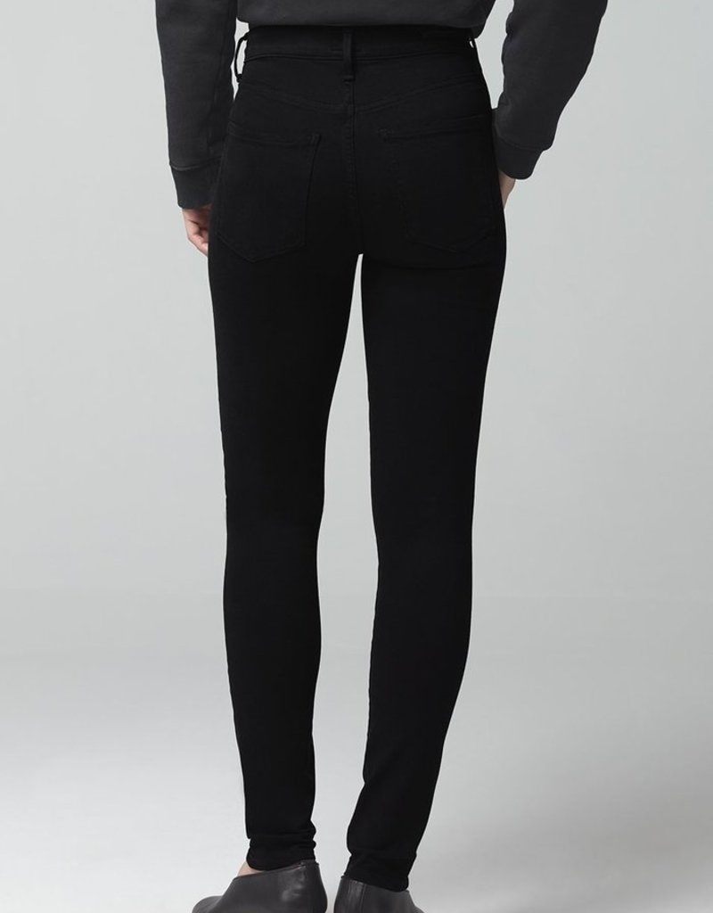 Citizens of Humanity Rocket Mid Rise Skinny - Plush Black