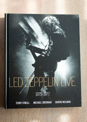 LABEL Led Zeppelin Live: 1975-1977 Hardcover Book