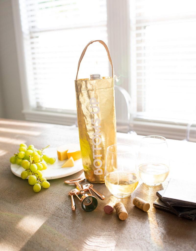 LABEL 'Bottoms Up' Wine Bag