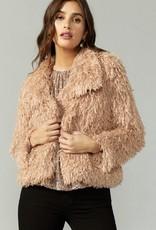 Greylin Pamela Faux Fur Feathery Jacket