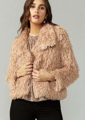 Greylin Pamela Faux Fur Feathery Jacket