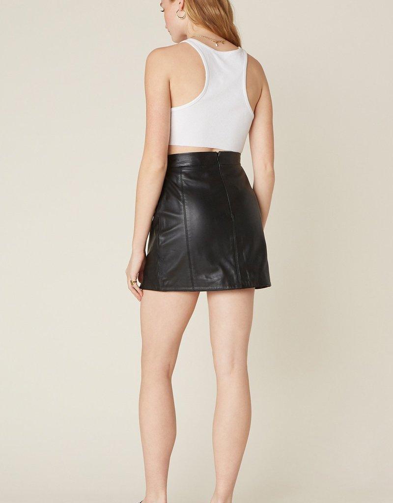 BB Dakota Gimmie A Mini Leather Skirt