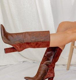 42 Gold Kolby Boot - Brunette Snake