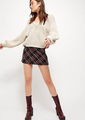 Free People Kensington Skater Mini Skirt