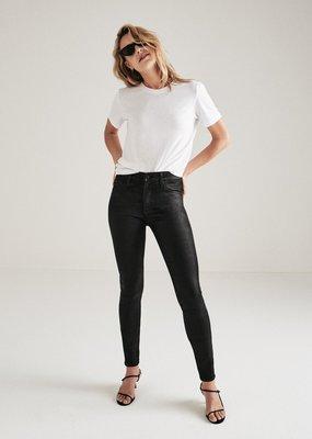 AG Jeans Farrah Skinny Ankle - Black Leatherette