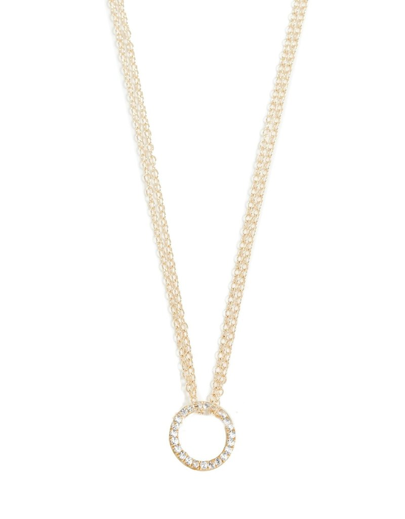 Shashi Circle Pave Necklace