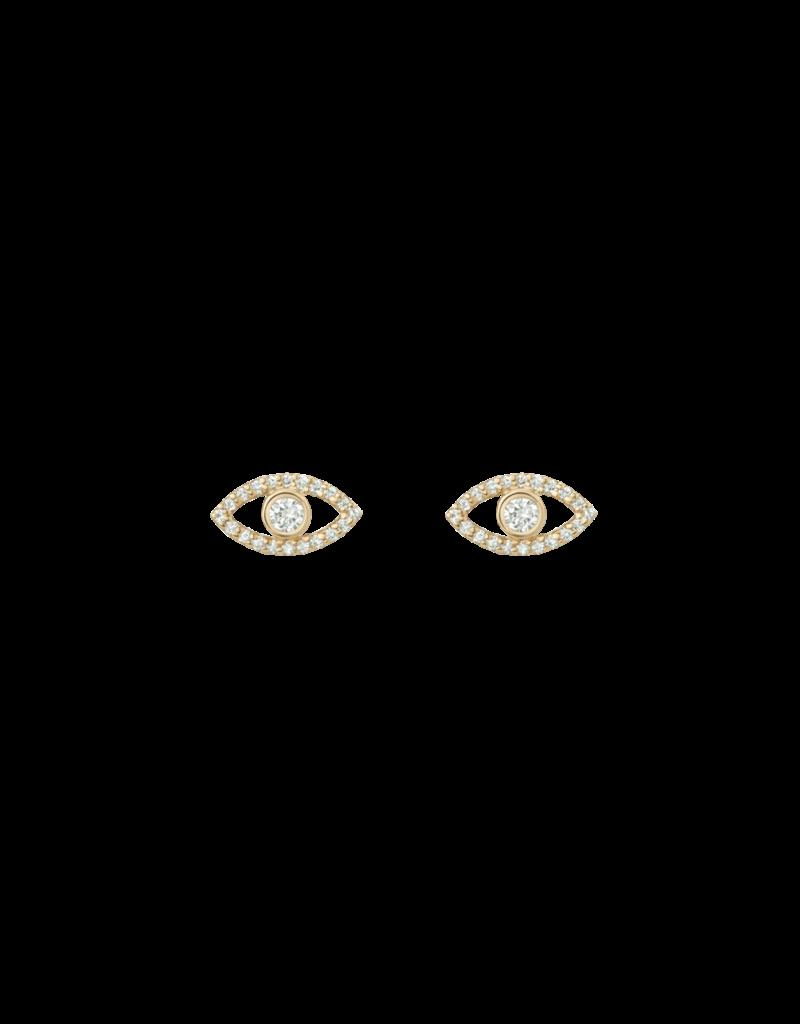 Shashi Evil Eye Pave Stud