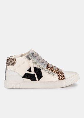 Dolce Vita Zonya Sneakers - White/Black Embossed Lizard