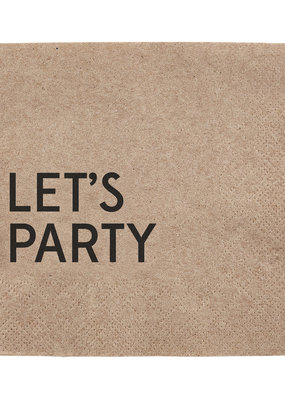 LABEL 'Let's Party' Napkins