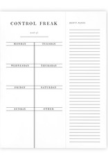 LABEL 'Control Freak' Weekly Planner