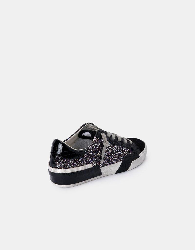 Dolce Vita Zina Sneakers - Black Metallic Glitter