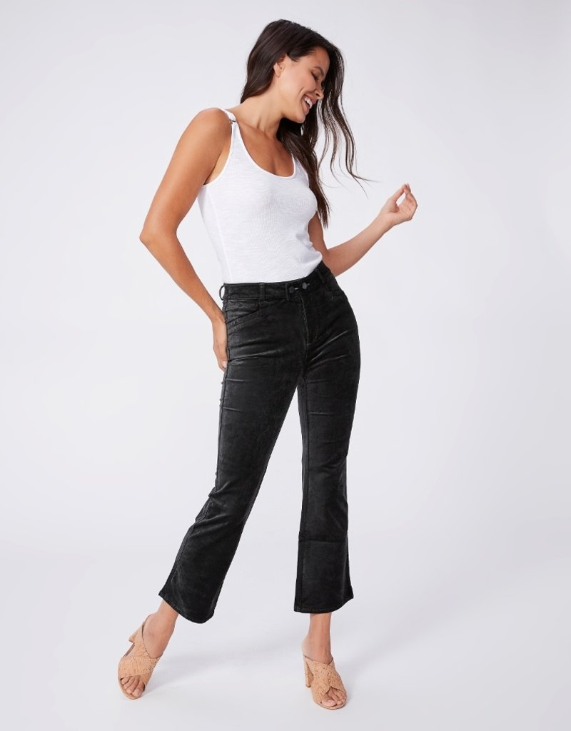 Paige Claudine Double Button Velvet Crop Flare