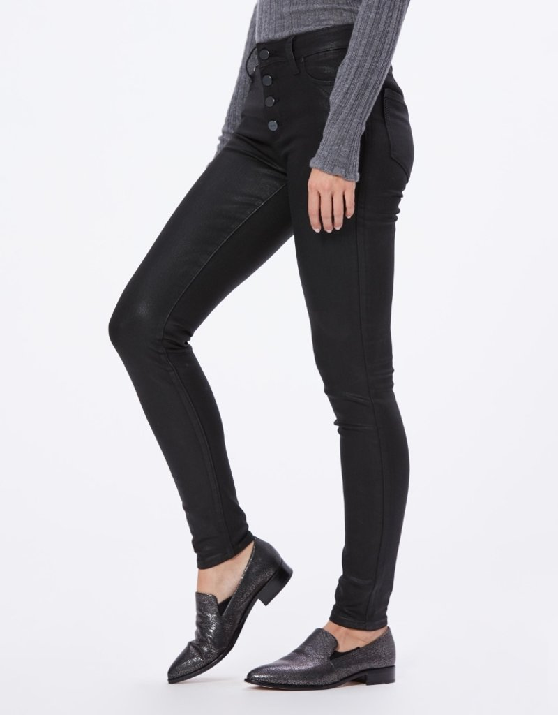 Paige Hoxton Ultra Skinny Exposed Button - Black Fog Luxe Coating