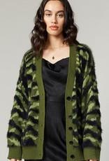 Greylin Jules Army Sweater Knit Cardigan