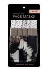 Kitsch Cotton Face Mask 3pc Set - Neutral