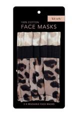 Kitsch Cotton Face Mask 3pc Set - Leopard