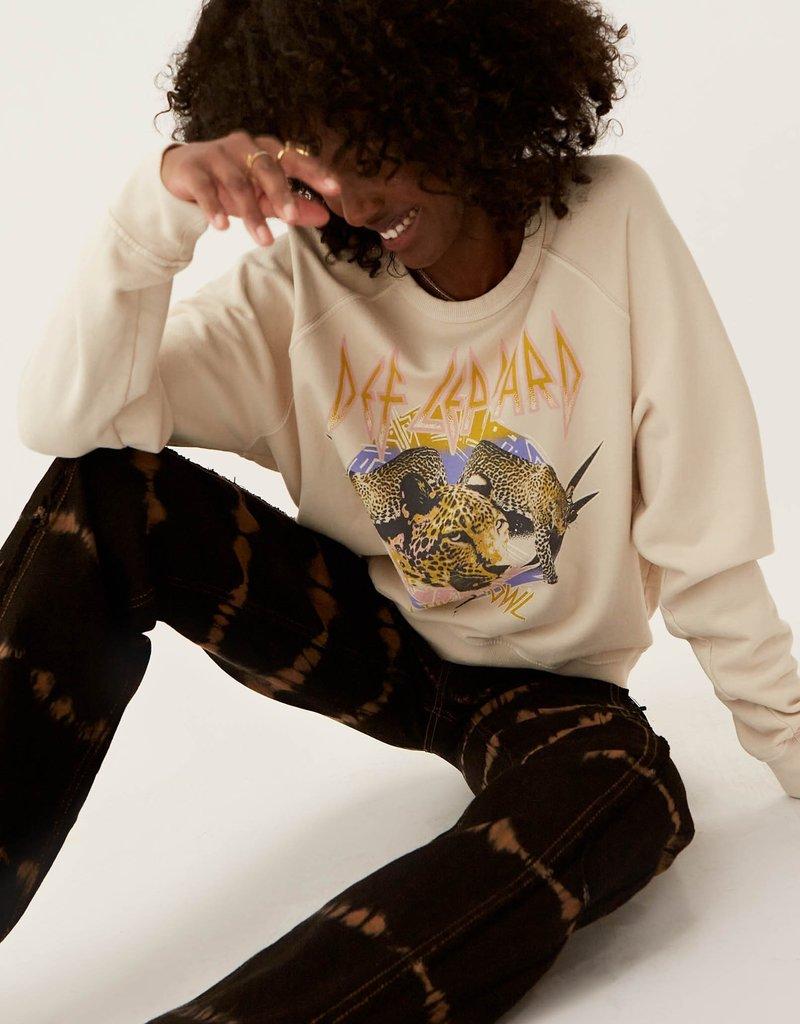 Daydreamer Def Leppard on The Prowl Varsity Crew Sweatshirt