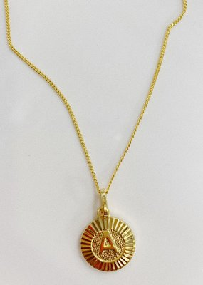 Bracha Initial Medallion Necklace
