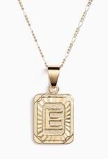 Bracha Initial Card Necklace