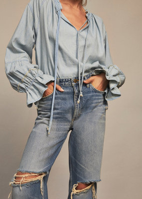 Free People Alpine Denim Top