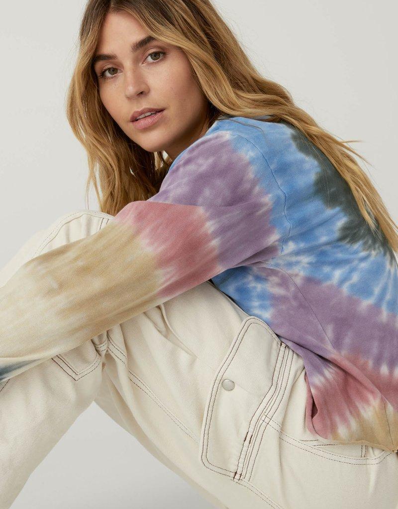 Daydreamer Autumn Tie Dye Long Sleeve Crop