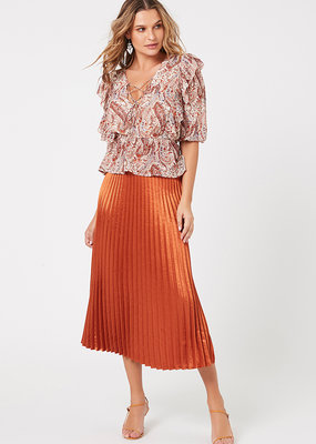 Minkpink After Glow Pleat Skirt